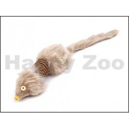 Hračka pro kočky JK - hnědá sisalová myš (L)