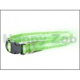 Svítící obojek JK LED zelený (M) 2,5x40-48cm