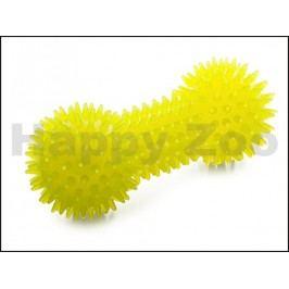 Hračka JK guma TPR - činka s bodlinami žlutá 15cm