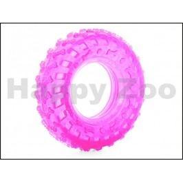 Hračka JK guma TPR - pneumatika růžová 10cm