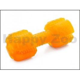 Hračka JK guma TPR - činka dentální oranžová 13cm