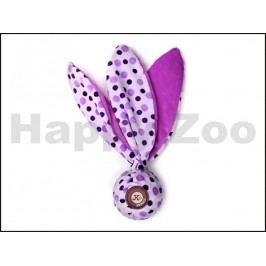 Hračka JK plyš - šustící uzel s TPR míčkem fialový 25cm