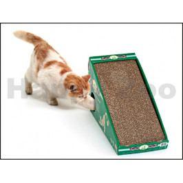 Škrabadlo FLAMINGO kartonové s myší a catnipem 50x21x32cm