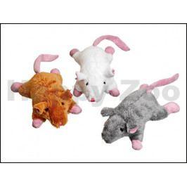 Hračka pro kočky FLAMINGO - myš s růžovým ocasem a catnipem 10x8