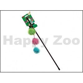 Škádlítko FLAMINGO s třemi chlupatými míčky, rolničkou a catnipe