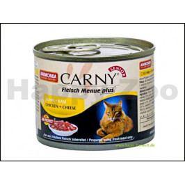 Konzerva CARNY Senior hovězí, kuře a sýr 200g