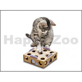 Hračka pro kočky FLAMINGO - Smart Cat Activity Box - čtvercový b