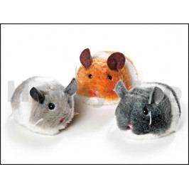 Hračka pro kočky FLAMINGO - plyšová natahovací myš Jerry 7cm (MI