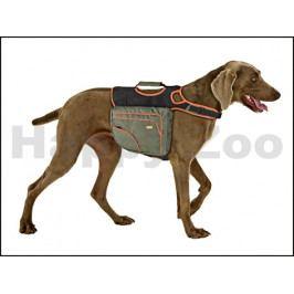 Postroj s brašnami na psa FLAMINGO (M) 24x14cm