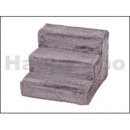 Schody dřevěné FLAMINGO pro psy a kočky šedé 60x45x40cm