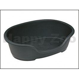 Plastový pelech FLAMINGO Domus černý 60cm