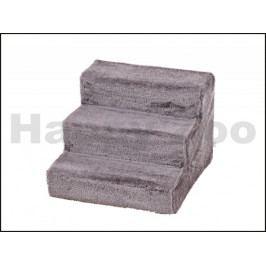 Schody dřevěné FLAMINGO pro psy a kočky šedé 43x41x29cm