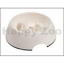 Plastová miska FLAMINGO Royal Bordo protihltací bílá (M) 13cm (3
