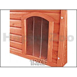 Plastová dvířka k boudě pro psa TRIXIE Natura hnědé (M) 22x35cm