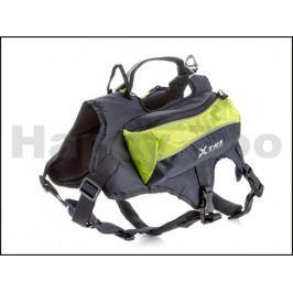 Postroj s batohem na psa JK X-TRM zelený 46-56/66-78cm