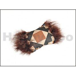 Hračka pro kočky FLAMINGO - Aztec polštářek s peřím 7cm