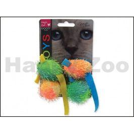 Hračka MAGIC CAT pro kočky - myš a koule s catnipem 5cm (4ks)
