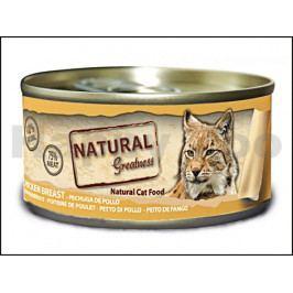Konzerva NATURAL GREATNES Cat Chicken Breast 70g