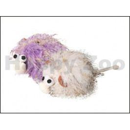 Hračka pro kočky FLAMINGO - chlupatá příšerka 7cm (MIX BAREV)