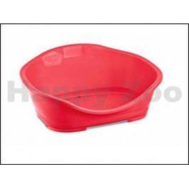 Plastový pelech STEFANPLAST Sleeper 3 červený 80,5x56x32cm (DOPR