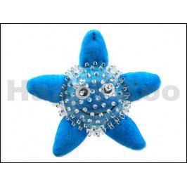 Hračka DOG FANTASY plyš TPR guma - Sea hvězdice v míčku 9cm