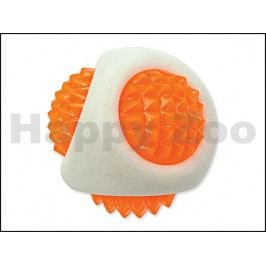 Hračka DOG FANTASY TPR guma - LED míček bílý 7,7cm