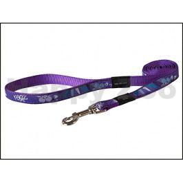 Vodítko ROGZ Fancy Dress HLL 03 CH-Purple Forest (L) 2x180cm