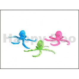 Hračka FLAMINGO plyš - chobotnice 12x8x39cm (MIX BAREV)