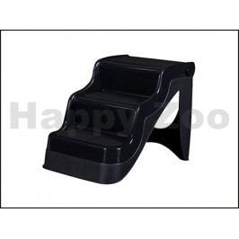 Plastové skládací schody FLAMINGO černé 46x38x38cm