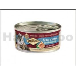 Konzerva CARNILOVE Turkey & Salmon for Adult Cats 100g