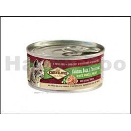 Konzerva CARNILOVE Duck & Pheasant for Adult Cats 100g