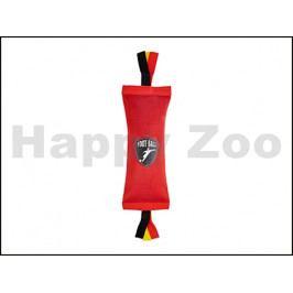 Hračka FLAMINGO nylon - pešek s provazem černočervený 24cm