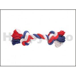 Hračka FLAMINGO bavlna - uzel červenobílomodrý (L) 34cm