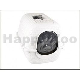 Toaleta pro kočky FLAMINGO Prive bílá 42x51x40cm