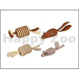Hračka pro kočky FLAMINGO - Paper myš a váleček 4x4x13cm (2ks) (
