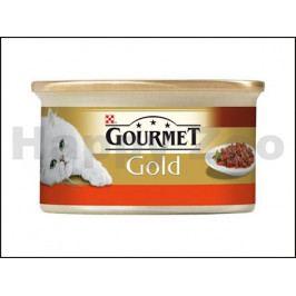 Konzerva GOURMET Gold - hovězí a kuře v rajské omáčce (kousky ma