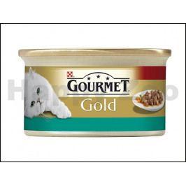 Konzerva GOURMET Gold - losos a kuře (kousky masa) 85g