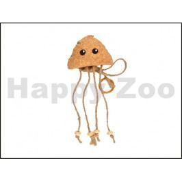 Hračka pro kočky FLAMINGO - korková medúza s catnipem 25x9x3cm
