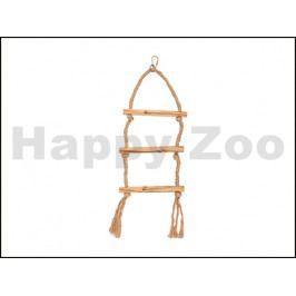 Hračka pro ptáky FLAMINGO - závěsný sisalový houpací žebřík 56x1