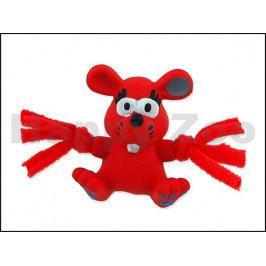 Hračka DOG FANTASY latex - mini myš červená 7cm