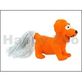 Hračka DOG FANTASY latex - mini pes oranžový 7cm