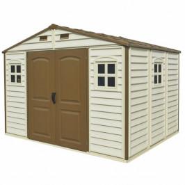 DURAMAX Zahradní domek Duramax WOODSIDE 7,6m2 + podlahová konstrukce (model 30214 -10,5x8´)
