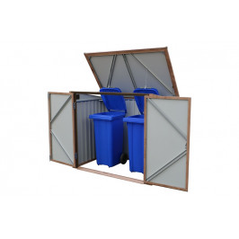 DURAMAX Úložný box na popelnice - imitace dřeva, Duramax 74045