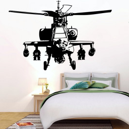 Americký bojový vrtulník Apache - vinylová samolepka na zeď 80x54cm