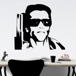 Arnold Schwarzenegger Terminátor - vinylová samolepka na zeď 100x89cm