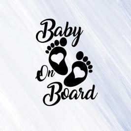 Baby on board 3 - vinylová samolepka na auto 14x10cm