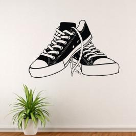 Boty tenisky - vinylová samolepka na zeď 80x51cm