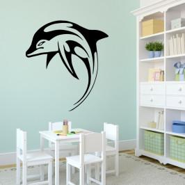 Delfín - vinylová samolepka na zeď 100x90cm