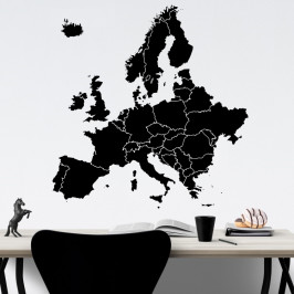 Evropa mapa - vinylová samolepka na zeď 80x77cm