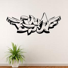 Graffiti Big Up - vinylová samolepka na zeď 80x34cm